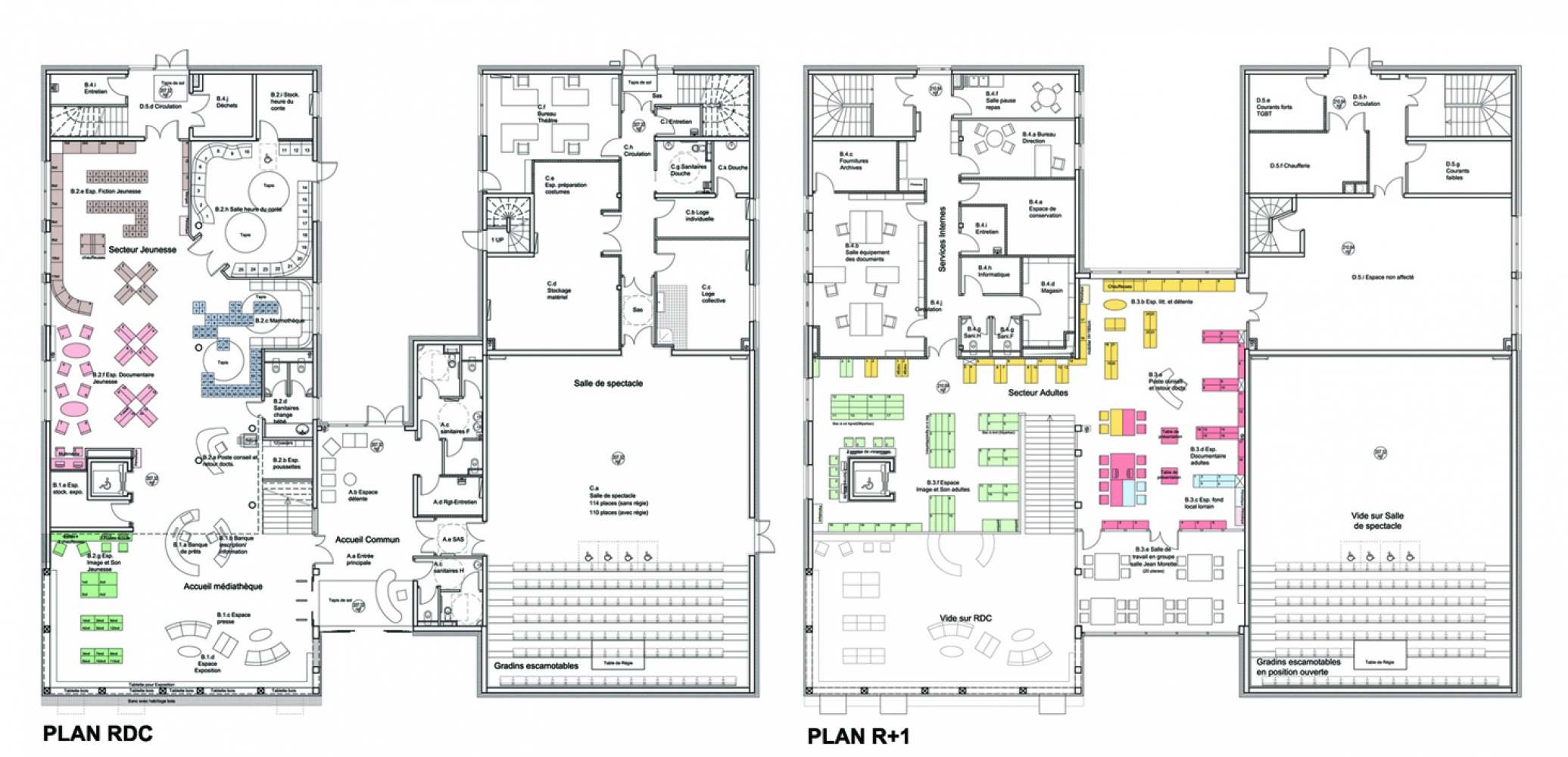 zjarplans Pascale SEURIN Architecte - Culturel
