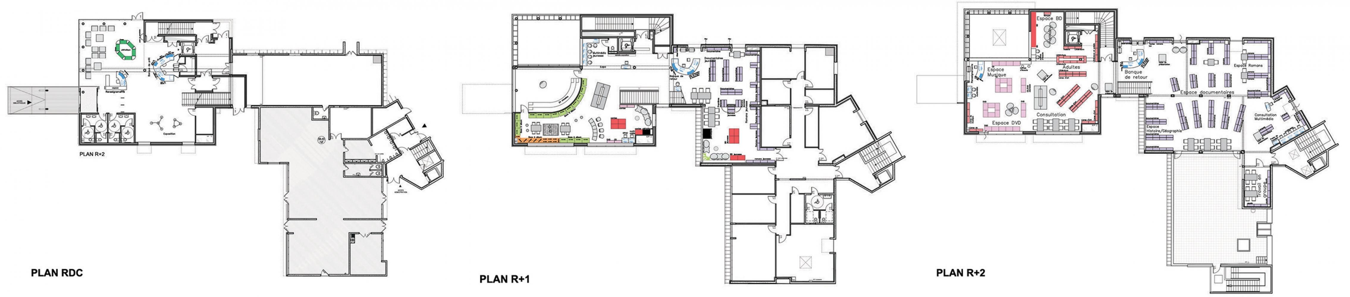 plan_massy Pascale SEURIN Architecte - Culturel