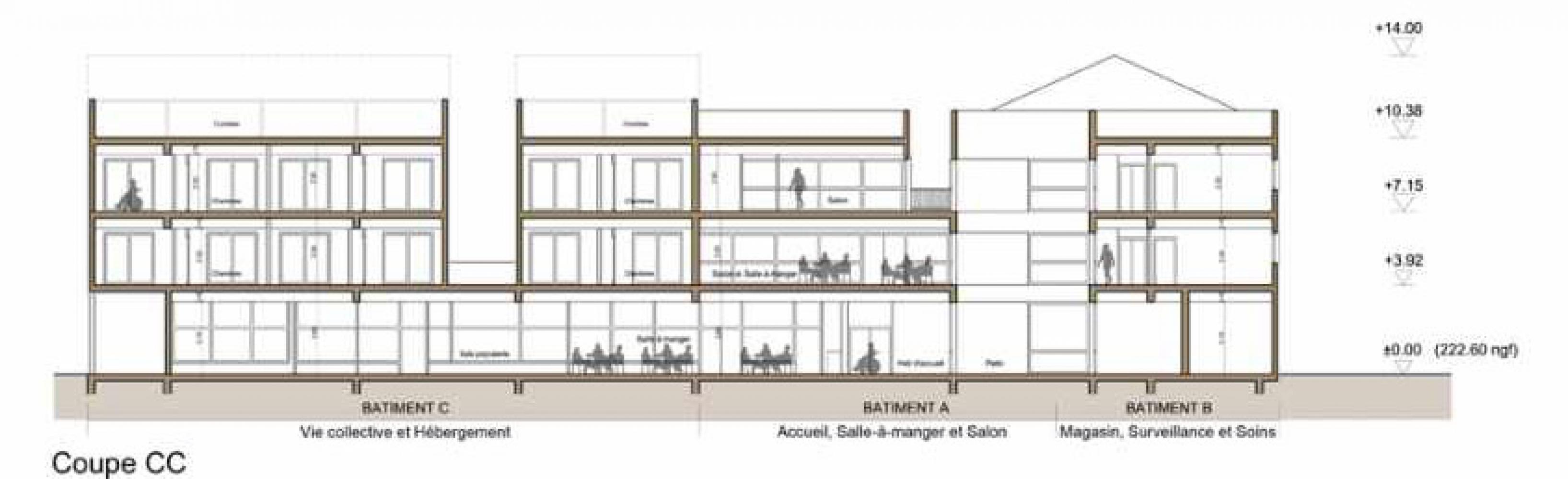 coupe_cc Pascale SEURIN Architecte - Médico-Social