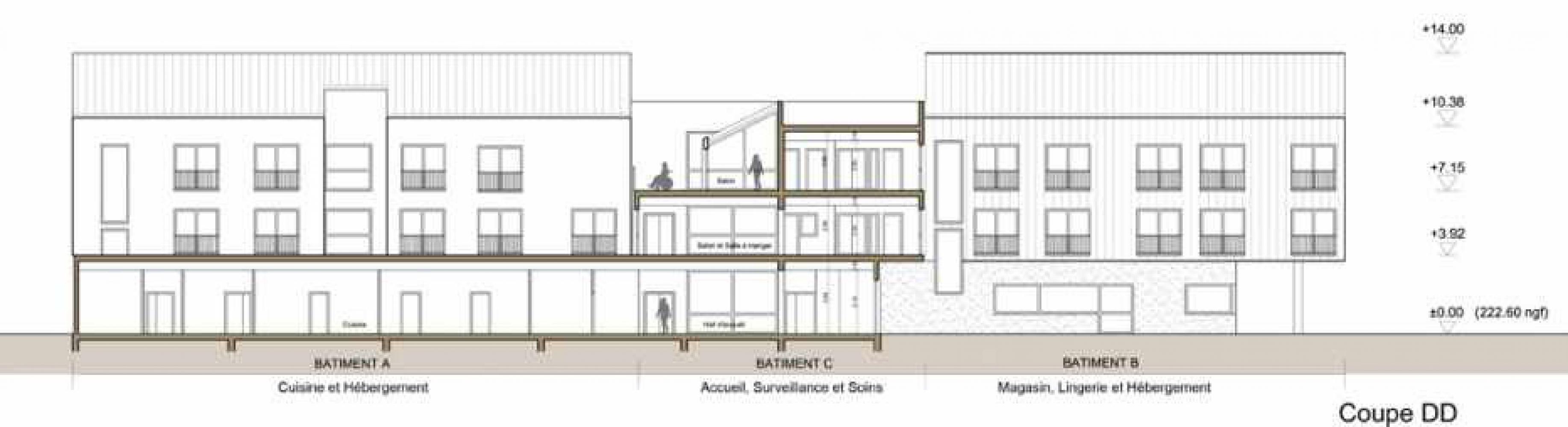 coupe_dd Pascale SEURIN Architecte - Médico-Social