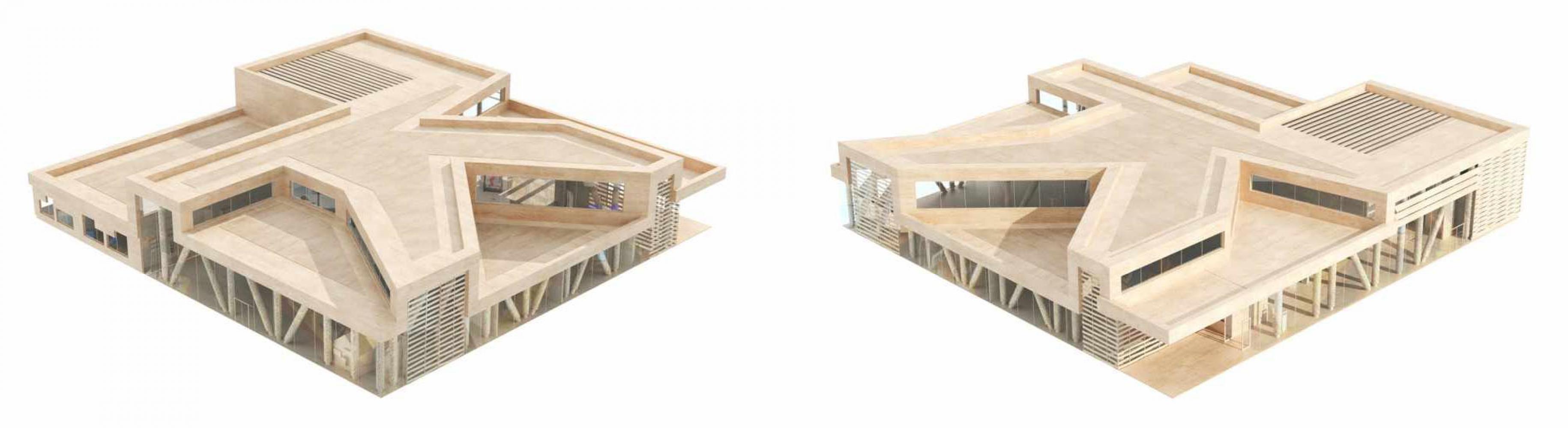 plan_cote_a_cote_harnes Pascale SEURIN Architecte - Culturel